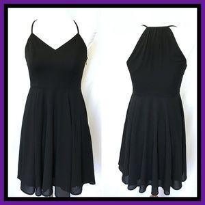 Express Black Spaghetti Strap Short Dress